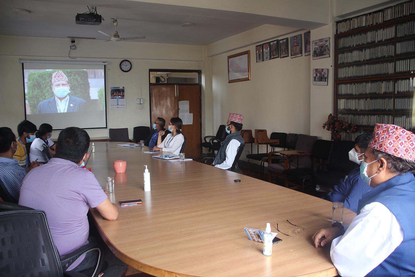 अपाङ्गतामैत्री वेबसाइटको शुभारम्भ तथा पत्रकार आचारसंहितासम्बन्धी भिडियो सन्देश सार्वजनिक कार्यक्रम